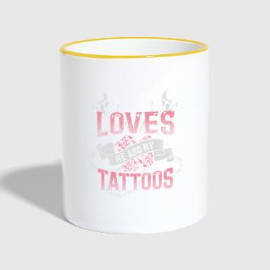 Tattoo Jesus tattoos tattoo love gift - Taza en dos colores