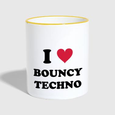 I LOVE BOUNCY TECHNO - Tasse zweifarbig