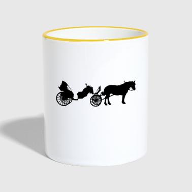 Transport à cheval - Mug contrasté