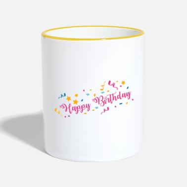 Happy Birthday Happy Birthday - Taza en dos colores