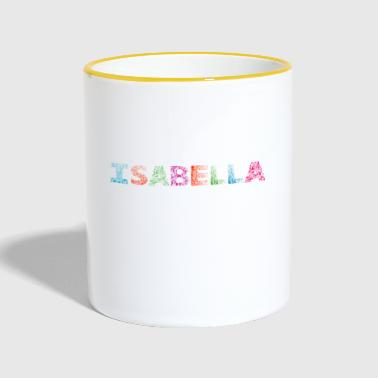 Isabella Letter Name - Tazze bicolor
