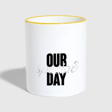 Wedding / Marriage: Our special day - Contrasting Mug