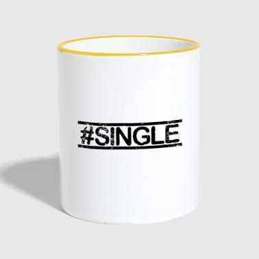 #SINGLE - noir - Mug contrasté