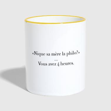 The philosophy - Contrasting Mug