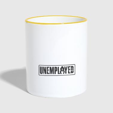 Unemployed Tshirt - Contrasting Mug