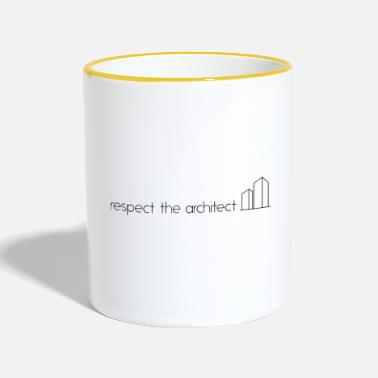 Architektur respect the architect - Tasse zweifarbig