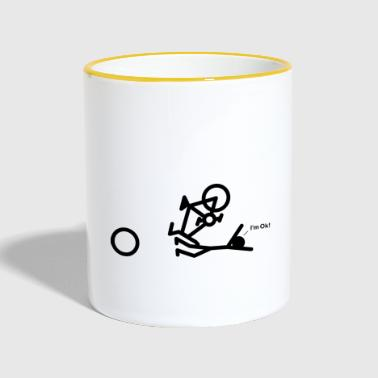 Bike Crash OK - Taza en dos colores