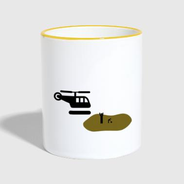 Helicopter parents helicopter helicopter parents - Contrasting Mug