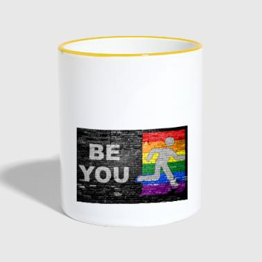 Be You Coming out Graffiti - Tasse zweifarbig