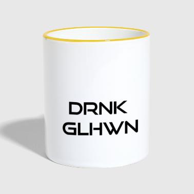 drink mulled wine - Contrasting Mug