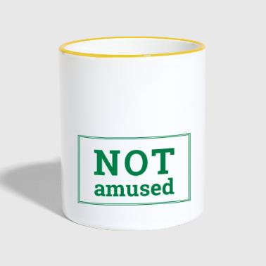 Not Amused - Contrasting Mug