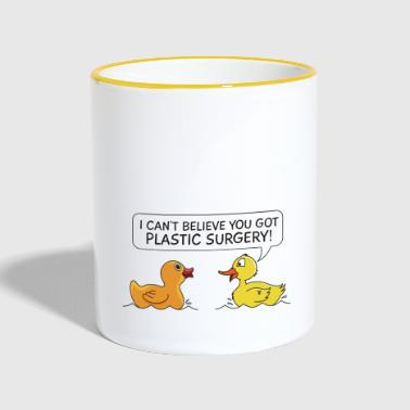 Plastic Surgery Rubberduck Gift - Contrasting Mug