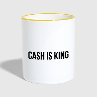 Cash is King - Kubek dwukolorowy