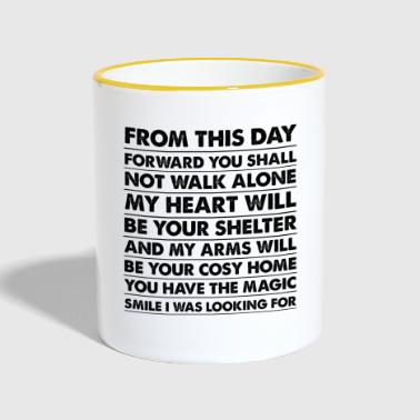 Gifts for Husband, Wife, Boyfriend or Girlfriend - Contrasting Mug