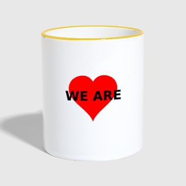 WE ARE HEART HEART LOVE - Contrasting Mug