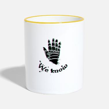 Skyrim we know - Skyrim, Dark brotherhood - Tasse zweifarbig