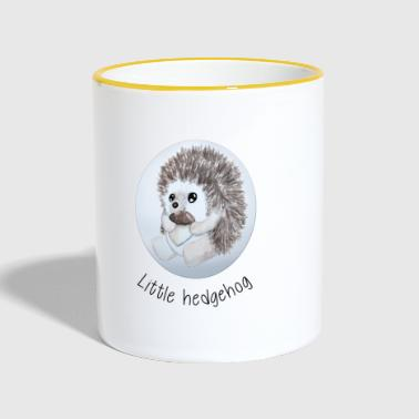 Hedgehog Little hedgehog - Contrasting Mug