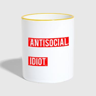 not anti-social - anti idiot - Contrasting Mug