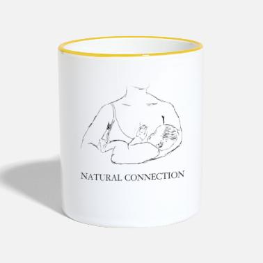 Breastfeeding Breastfeeding - the most natural connection - Contrasting Mug