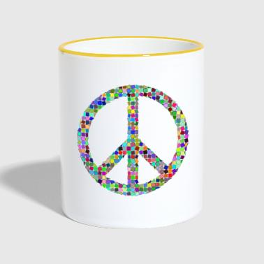 Peace Love hippie pacifist - Tofarvet krus