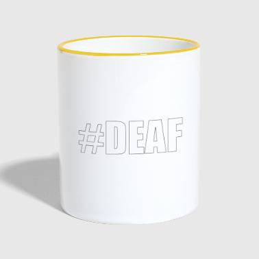 #DEAF knows - Contrasting Mug