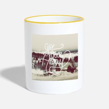 Writing Go Far Away writing - Mug contrasté