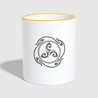 Latene Celtic symbol gray flourished - Contrasting Mug