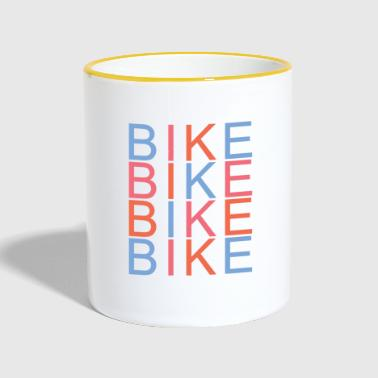 Bike Bike Bike-shirt - Mok tweekleurig