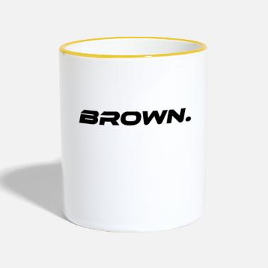 Brown Brown Brown Color Statement - Two-Tone Mug