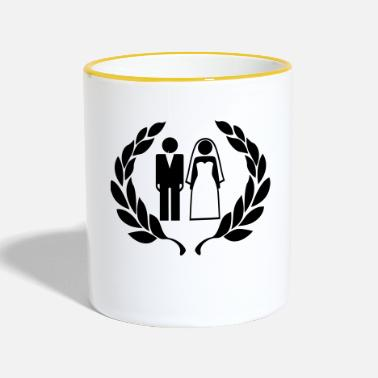 Wedding Couple Hochzeitspaar - Wedding Couple - Two-Tone Mug