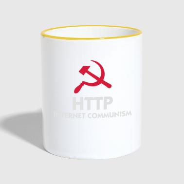 HTTP internet communisme - Mok tweekleurig
