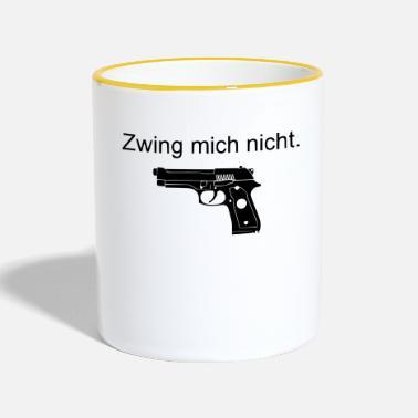 Kaffe Tasse Waffe USA Armee Keramik bedruckt