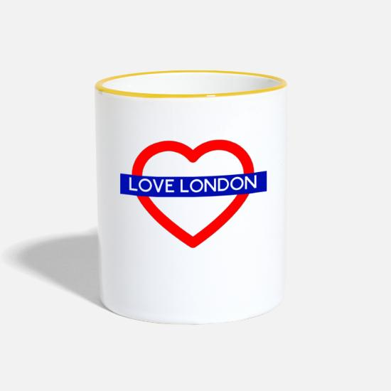 Angleterre Mugs et récipients - T-shirt London - Mug bicolore blanc/jaune