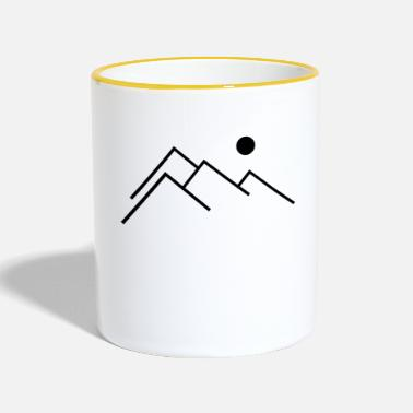 Mountain Climbing mountains - Two-Tone Mug
