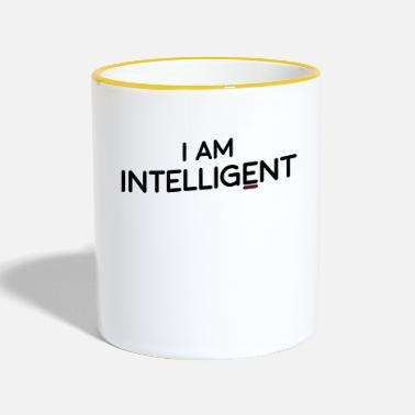 Intelligent Je suis intelligent - Mug bicolore