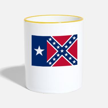 Rebel Flag Texas Rebel Flag - Contrasting Mug
