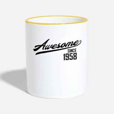 Since Awesome Since 1958 - Tvåfärgad mugg