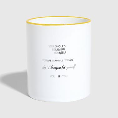 you be you lines - Tasse zweifarbig