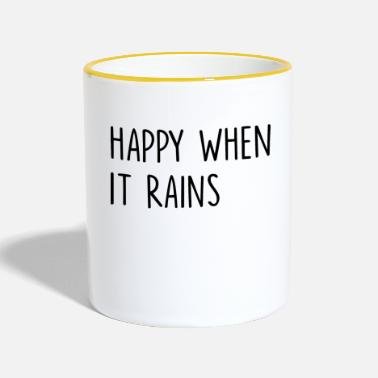 Christmas Happy When It Rains Quote - Mok tweekleurig