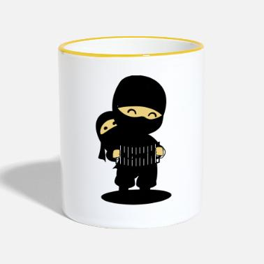 Japanese Cool Japanese Ninja - Two-Tone Mug