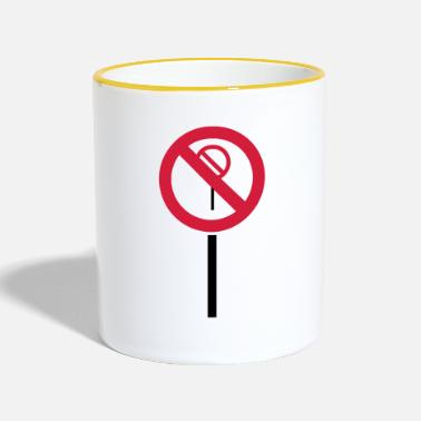 Prohibition Sign Prohibitions prohibited - Contrasting Mug