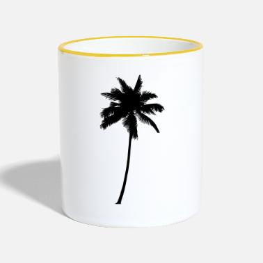 Palm Trees Palm Tree - Palm Tree Palm Tree Black - Two-Tone Mug