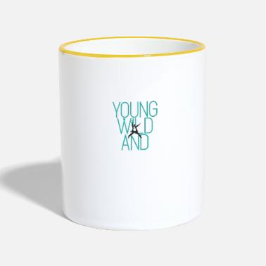 Young Young and wild ... Young wild and - Two-Tone Mug