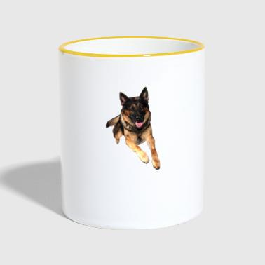 German Shepherd / German Shepherd - Contrasting Mug