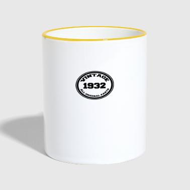 Year of birth / year 1932 - Contrasting Mug