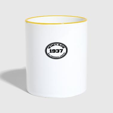 Year of birth / year 1937 - Contrasting Mug