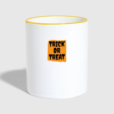 Halloween - Trick or Treat - Tasse zweifarbig