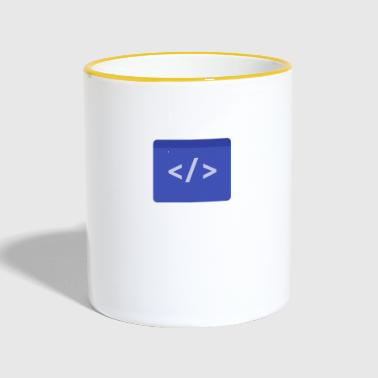Coding Coding Material - Tasse zweifarbig