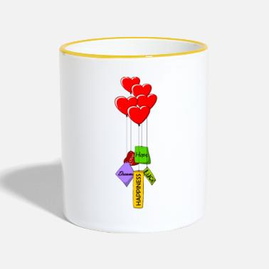 lorey.w hearts and wishes - Tasse zweifarbig