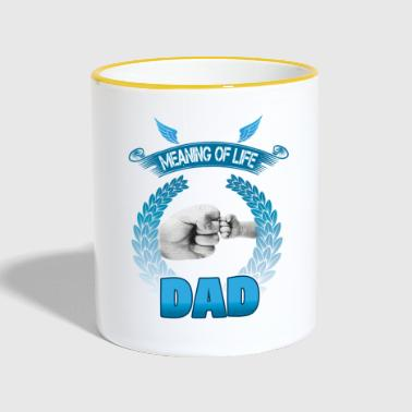 Vatertag! Fathers day! Dad! Daddy! - Tasse zweifarbig